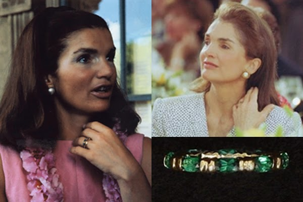 Jackie Kennedy S Emerald And Gold Swimming Ring