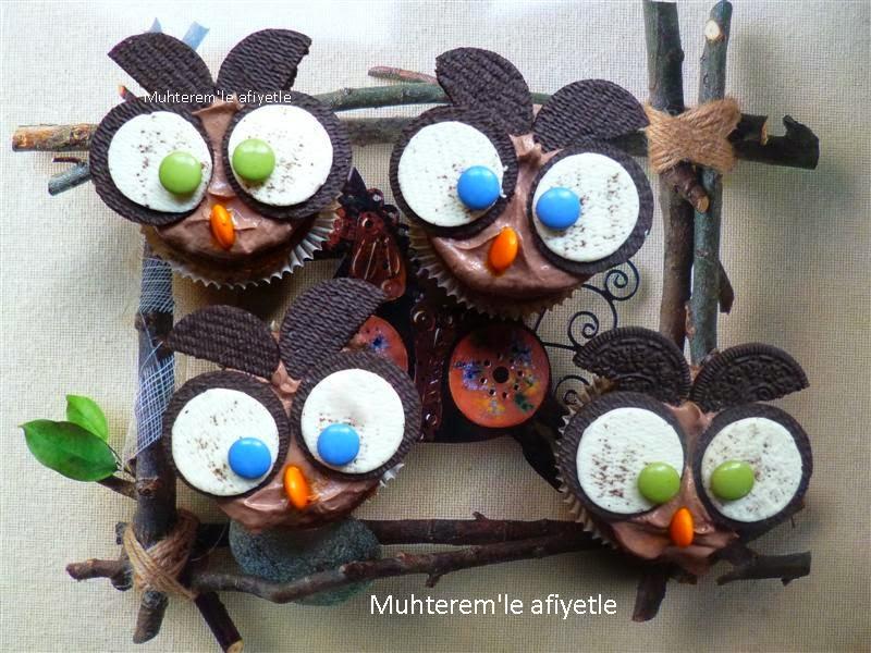 oreo owl muffin