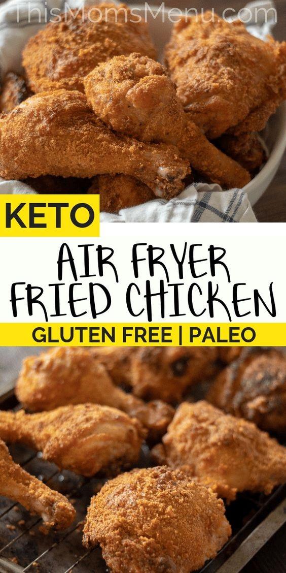 Air Fryer Keto Fried Chicken | Paleo, Gluten Free