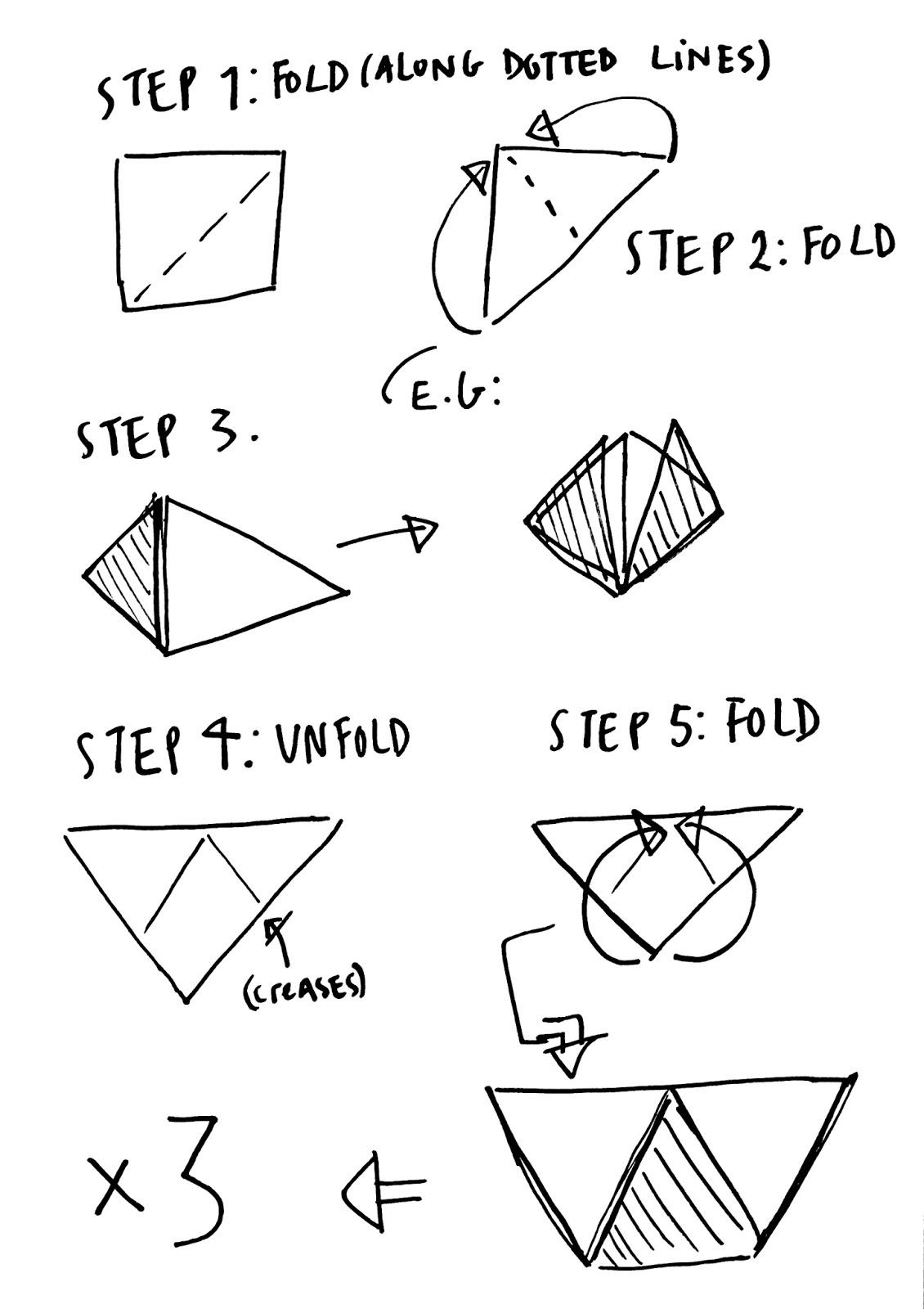 folding origami box diagram wiring diagrams online hawwa etc diy geometric paper boxes