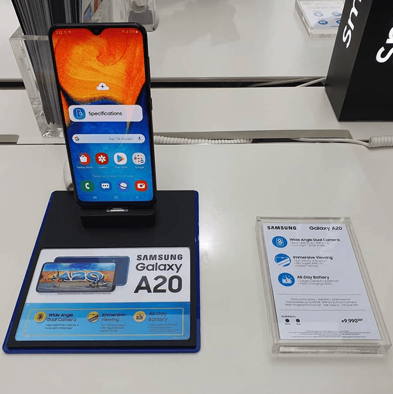 Samsung Galaxy A20 with 6.4-inch AMOLED screen now in PH stores!
