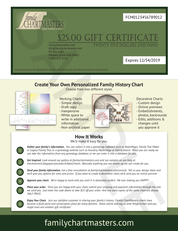the chart chick all new gift certificate format just in time for