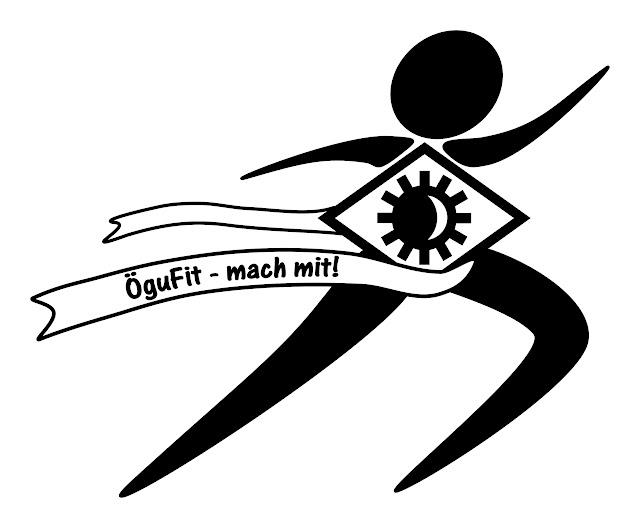 das ÖguFit logo der Ögussa für sportliche firmenaktivitäten....
