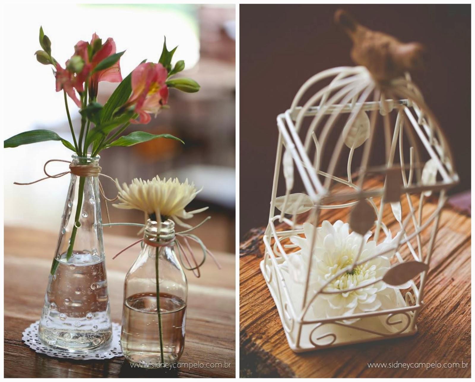 romantico-festa-decoracao-garrafinhas-gaiolinha