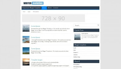 Writer Evolution - Template SEO Friendly
