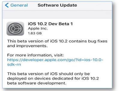 Apple has also released iOS 10.2 beta 1 with a build number 14C5062e to developers featuring Preserver Camera,New emoji, Wallpapers, a Videos widget, and more