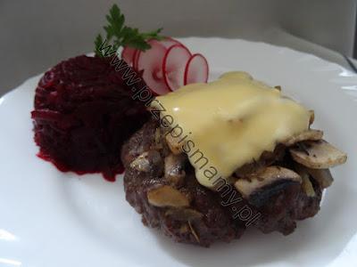 Kotlet mielony z wołowiny zapiekany