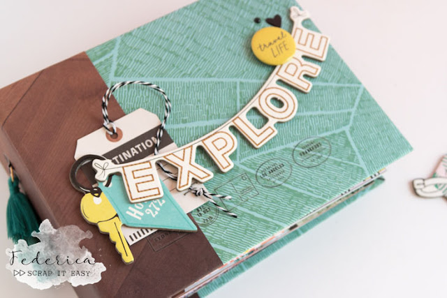 mini album explore by kushi per Scrap it Easy | www.kkushi.com