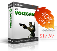 Coupon 40% for Voizgame for changing voice in game - Black Friday 2013