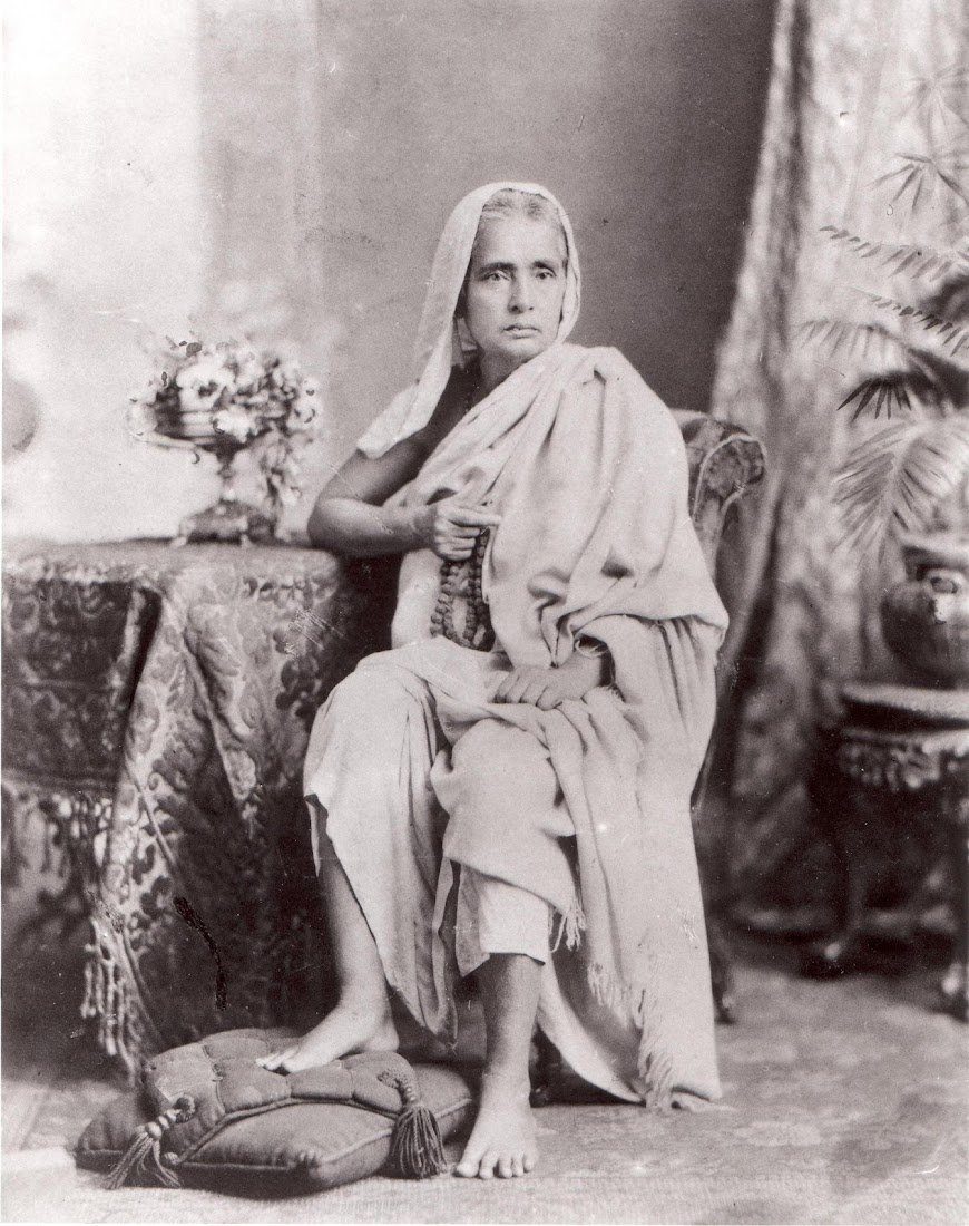Krishnabhabini Dasi Datta, the Wife of Jay Gopal Mallik -  Calcutta (Kolkata) Late 19th Century
