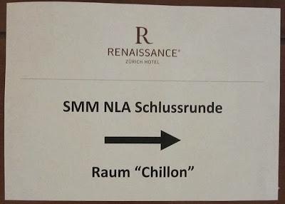 Cartel anunciando el Campeonato suizo absoluto de ajedrez por equipos, Hotel Renacimiento de Zúrich