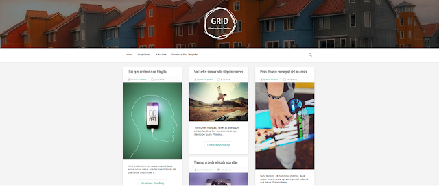 Grid - A Premium Blogger Template Free Download