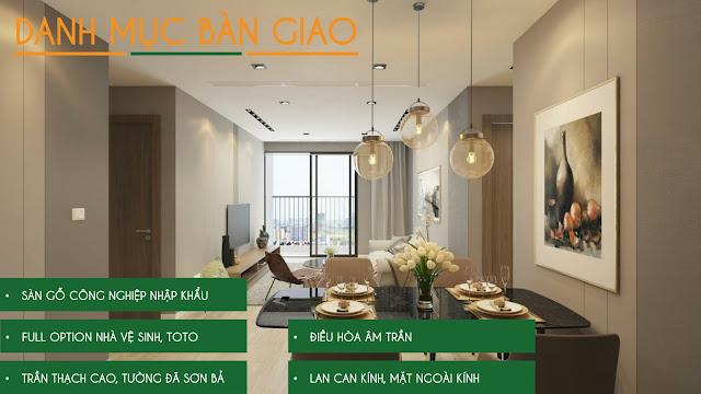 Danh mục nội thất bàn giao dự án Eco Dream