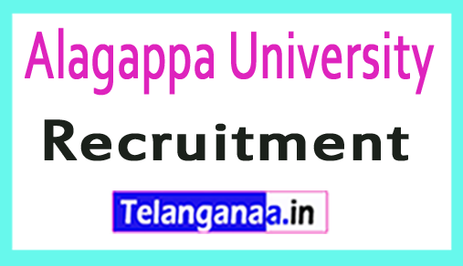 Alagappa University Recruitment