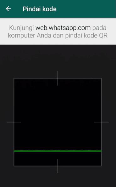 Mengecek barcode WhatsApp