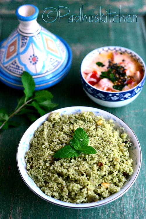 Mint Couscous-Indian Style Couscous Recipes