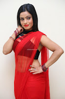Aasma Syed in Red Saree Sleeveless Black Choli Spicy Pics ~  Exclusive Celebrities Galleries 080.jpg
