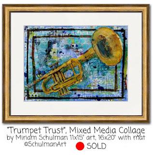 trumpet painting by miriam schulman | http://www.schulmanart.com