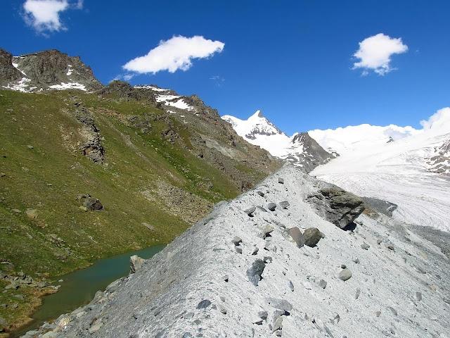 morena boczna lodowca Findelgletscher