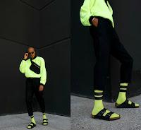 tendencia masculina verão 2019 look verde neon