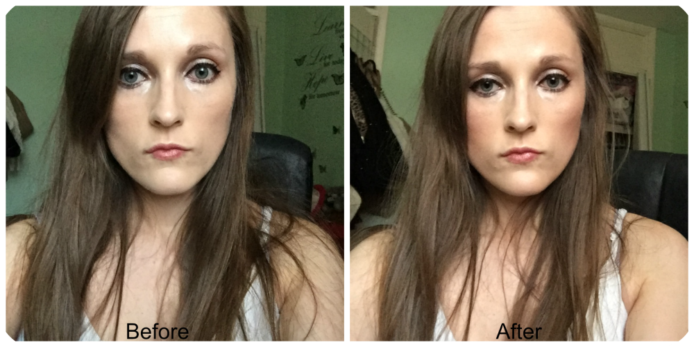 before and after rimmel sculpting palette coral glow