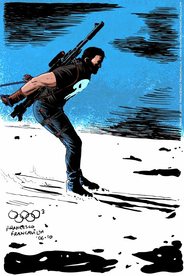 06-The-Punisher-Biathlon-Francesco-Francavilla-Winter-Superhero-Olympics-www-designstack-co