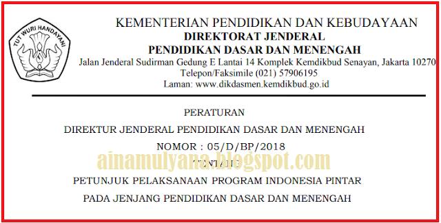 Membaca warta di media kita masih sering menemukan penyaluran dana PIP yang dianggap m JUKNIS PROGRAM INDONESIA PINTAR (PIP) JENJANG SD SMP Sekolah Menengan Atas Sekolah Menengah kejuruan TAHUN 2018