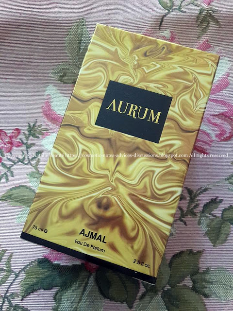 AURUM AJMAL PERFUME REVIEW AND PHOTOS NATALIE BEAUTE