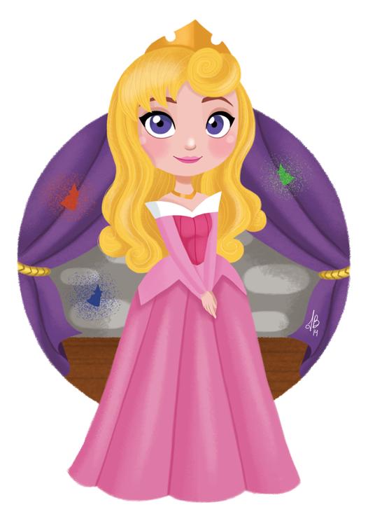 princess Aurora chibi người đẹp ngủ trong rừng 2