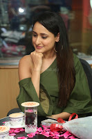 Pragya Jaiswal in a single Sleeves Off Shoulder Green Top Black Leggings promoting JJN Movie at Radio City 10.08.2017 034.JPG