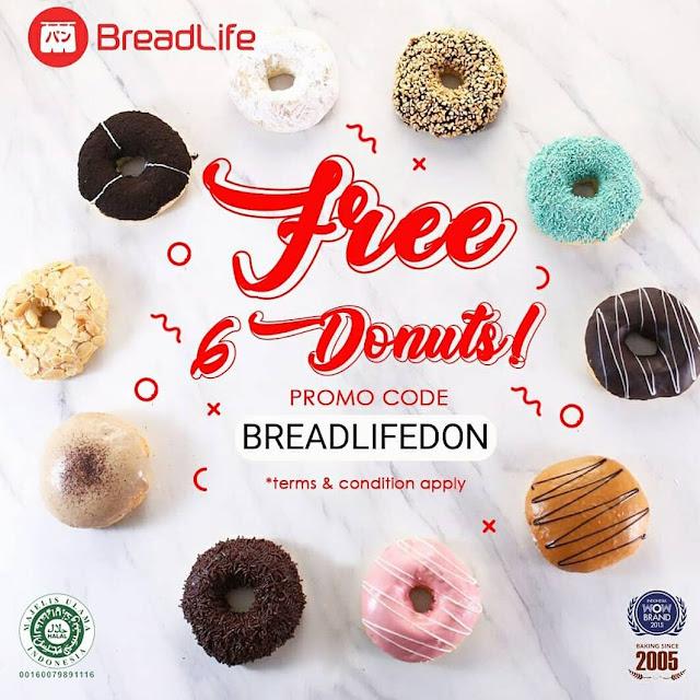 #BreadLife - #Promo Buy 6 Get 6 Free Donut di JABODETABEK (18 - 01 Mei 2019)