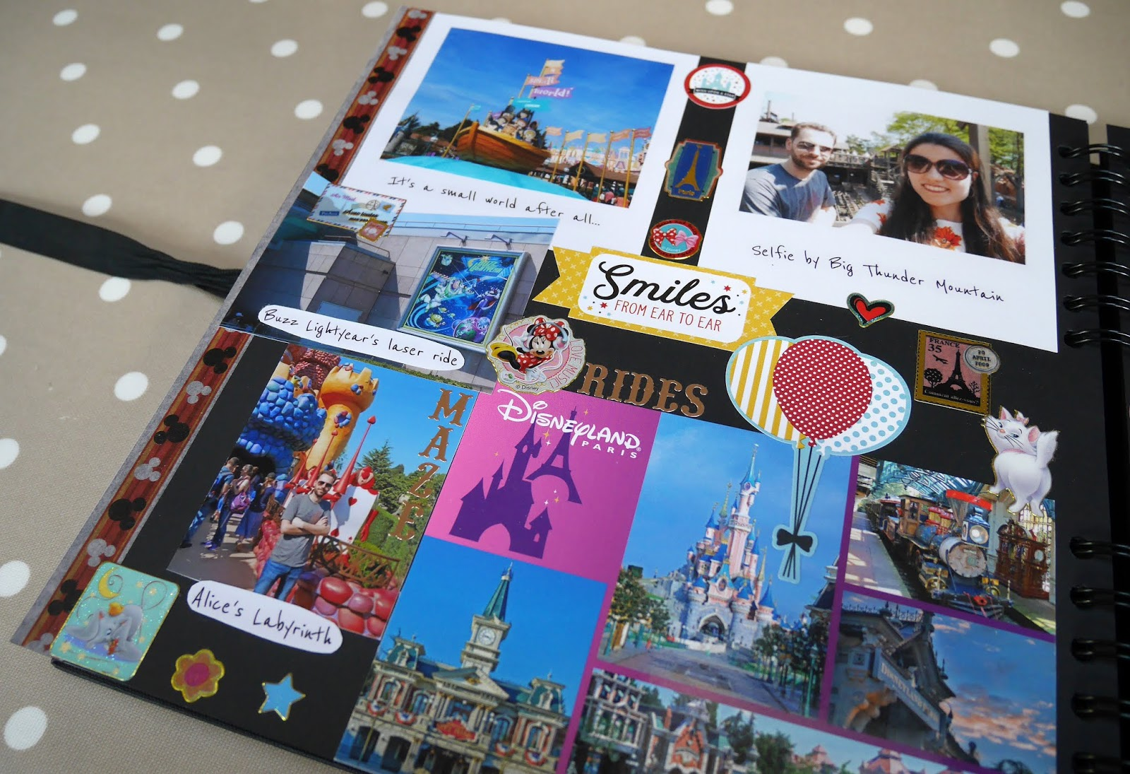 A Disneyland Paris page in my 2018 travel scrapbook
