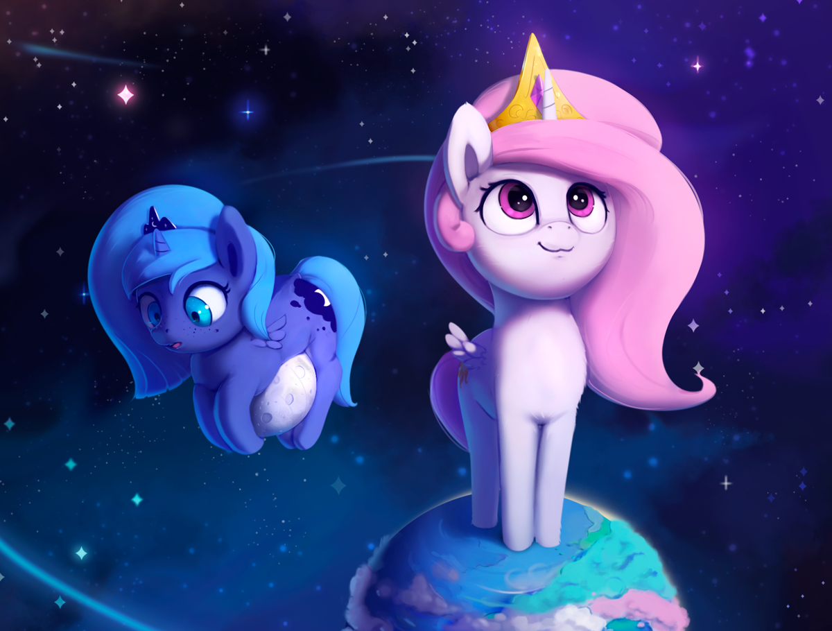 Equestria Daily - MLP Stuff!: Patreon Celebration - April - Ponies in SPACE