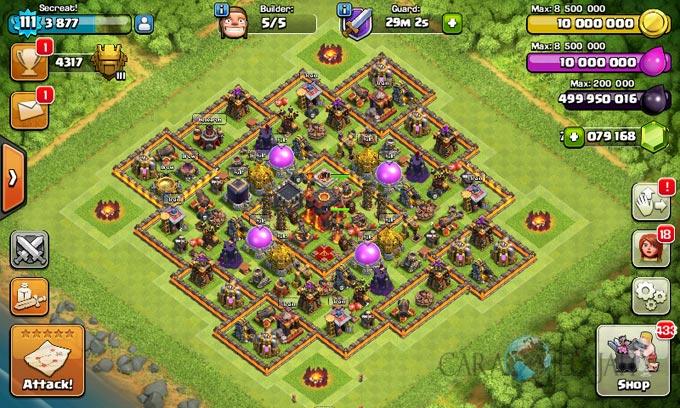 Desain Base Pertahanan Terbaik Untuk Base War TH 10 Update Terbaru 17