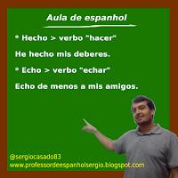 Diferença entre hecho e echo em espanhol