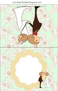 Kit Festa Casamento Verde Floral Para Imprimir