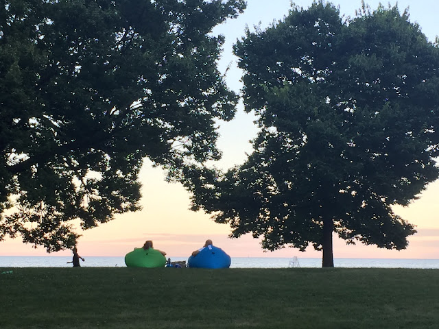 Summer Evenings by the lake in Chicago
