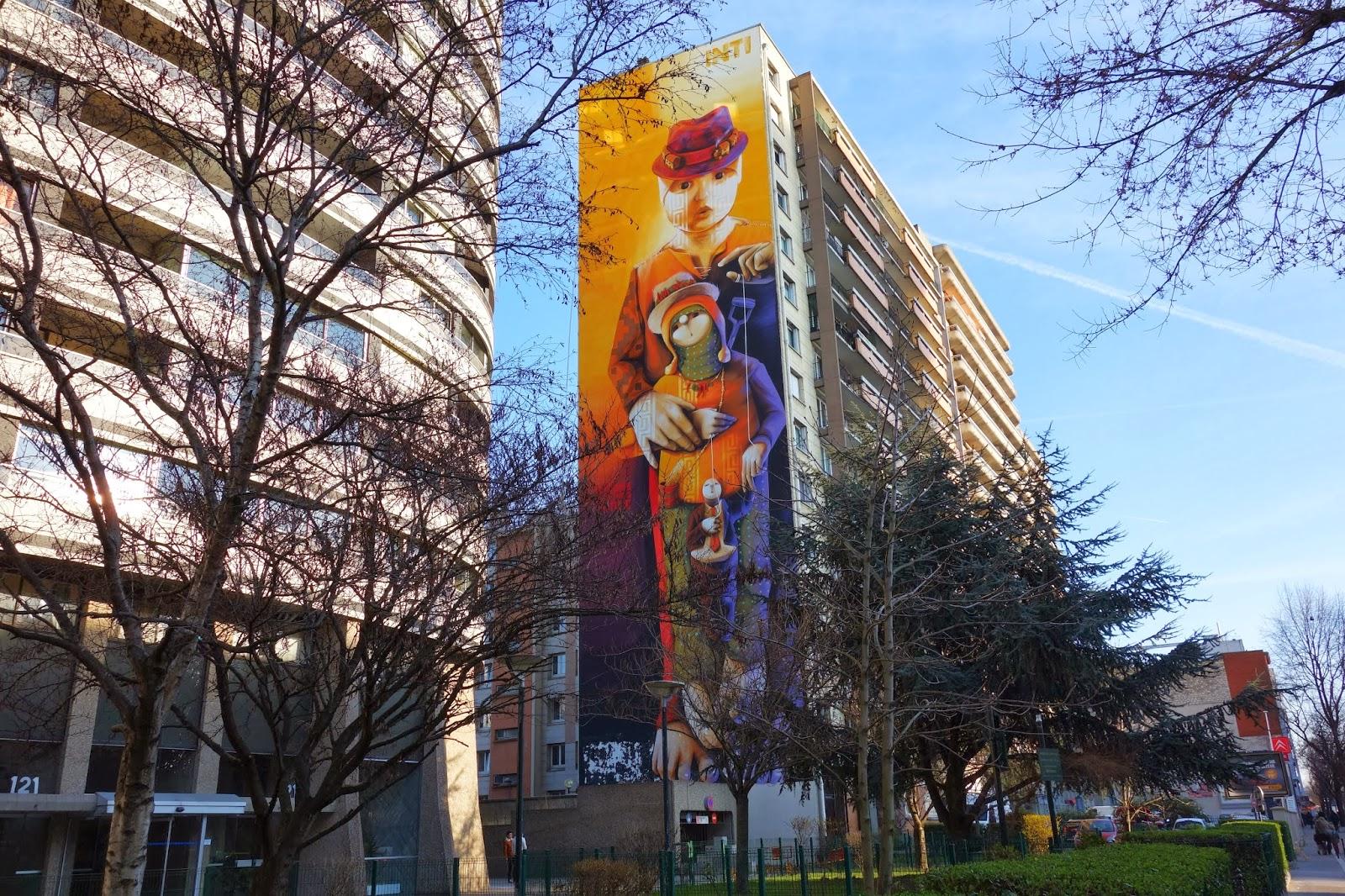 street art les grandes fresques du parcours itinerrance mairie de paris 2014 xiii me. Black Bedroom Furniture Sets. Home Design Ideas