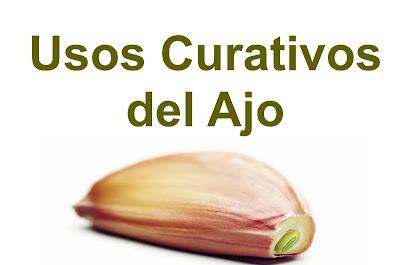usos curativos del ajo