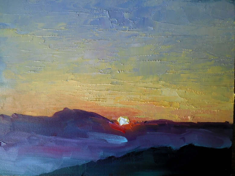 Oil Painting Smoky Mountains