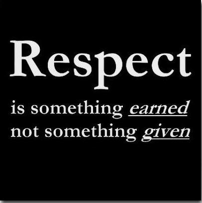 Image result for earn respect