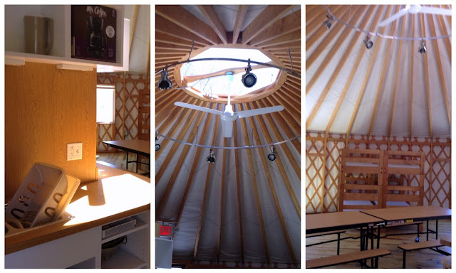 Inside the Yurt from all angles at @GSNEO Camp Timberlane