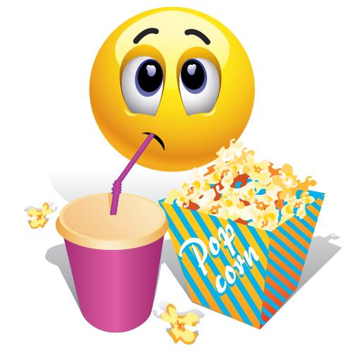 Popcorn: Popcorn Eating Emoji