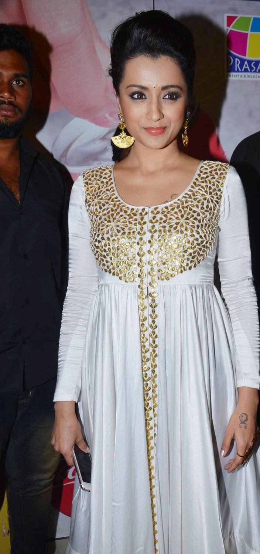 Trisha Latest Beautiful Stills In White Dress