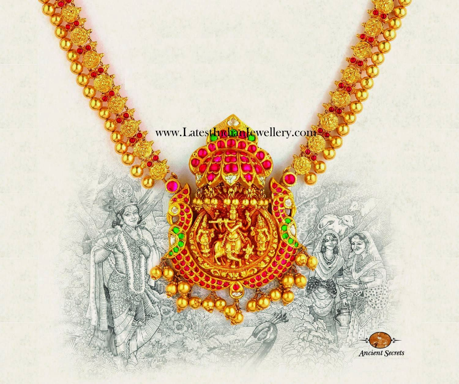 Chettinadu Style Krishna Necklace
