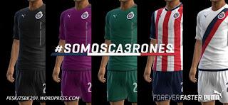 Kits Chivas Guadalajara 2016 - 2017 Pes 2013
