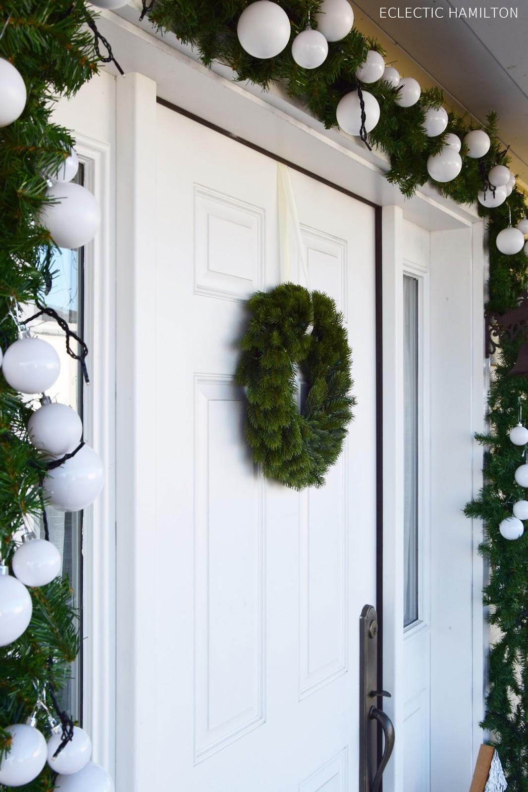Weihnachtsdeko An Der Haustür.Haustürdeko Weihnachten Auf Meiner Veranda Eclectic Hamilton