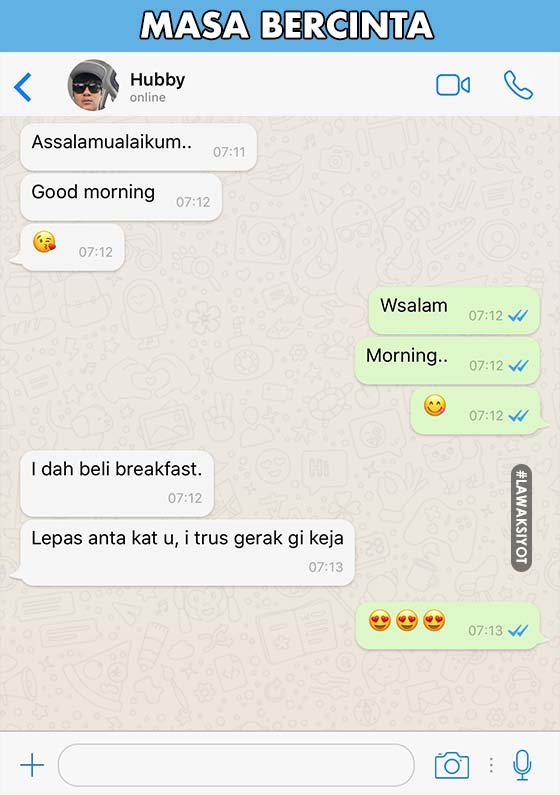Whatsapp Masa Bercinta Vs Lepas Kahwin