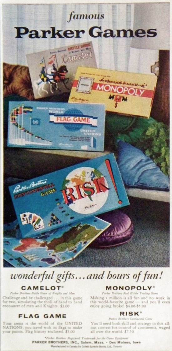 Risk advertising 1961