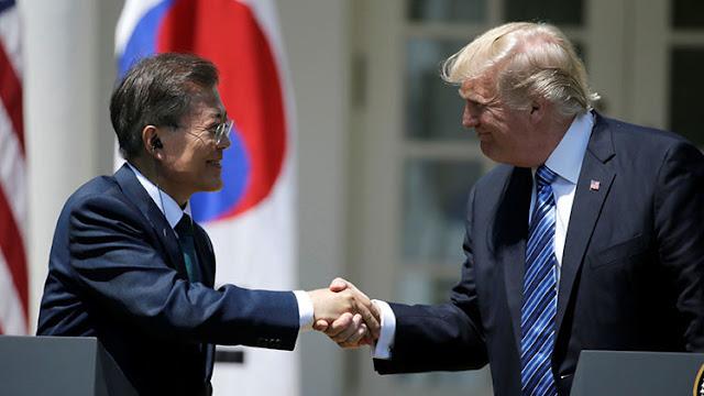 """Trump: """"Hablé con el presidente surcoreano, lo pregunté qué tal estaba el Hombre Misil"""""""
